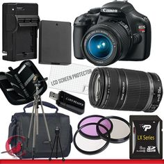 Review Discount Canon EOS Rebel T3 Digital Camera and 18-55mm & 55-250 IS II Lens Kit Package 4