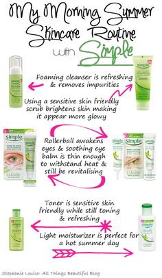 This is almost exactly my skincare routine!  Love @SimpleSkincare products!  #KindtoSummerSkin