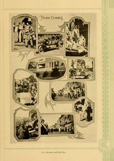 """Athena Yearbook, 1928. Ohio University Homecoming, """"Homecoming, One hundred and fifty-nine"""" Fall 1927, Ohio University Archives"""