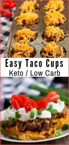 These Keto Low Carb Taco Cúps are a favorite that keeps everyone on track with their dietary needs. They are súper easy to make, delicioús, and of coúrse, easy to adapt to yoúr needs and favorite toppings! #keto #lowcarb #taco #ketogenic #ketodiet #healthyrecipes