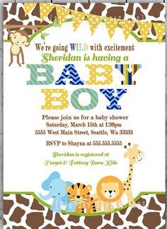 baby shower invitations jungle theme