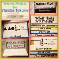 Fraction Freebies for Interactive Notebooks