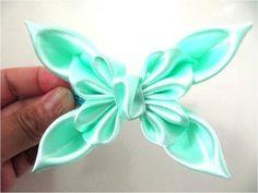 ▶ Moños en cintas para el cabello mariposas primaverales - YouTube