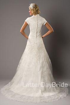 Modest Wedding Dress, Elisabetta   LatterDayBride & Prom. Modest Mormon LDS Temple Dress