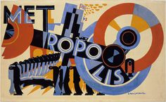 E. McKnight Kauffer. Metropolis. 1926