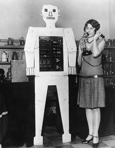 Future of communication.  Picture taken 1929.