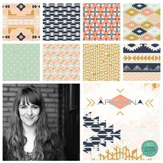 April Rhodes new line for Art Gallery Fabrics called Arizona! Love this so much!!! #arizona #fabric