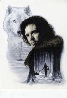 Game of Thrones - Jon Snow by Cat Scaggs