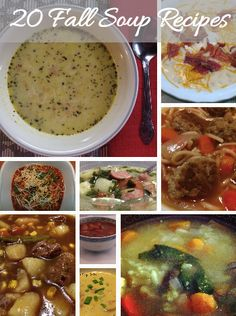 20 Fall Soup Recipes #soup #recipes #fallsouprecipes