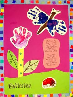 Sweet end of year poem with handprint art project. I think I'll have my students make these for their parents.