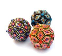 Geometric Beaded Beads by Jean Power
