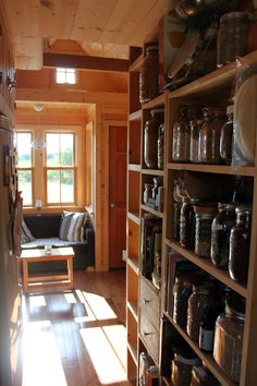 Tiny House Kitchen Shelves