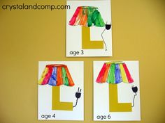 L is for Lamp: letter of the week alphabet activities for preschoolers lamp, preschool crafts, letter l crafts