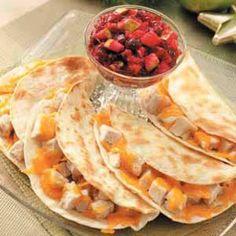 Turkey Quesadillas....another leftover turkey idea!