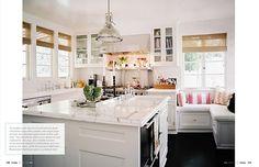 White cabinets, carrera marble.