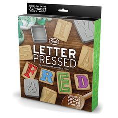 Letter Pressed Alphabet Cookie Cutters : Bellas Little Ones, Buy Ergo Baby Carrier Australia and Manduca Baby Carrier. Personalised baby gifts, nursery decor, wall stickers and wall decals.