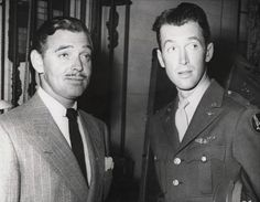 Clark Gable and Jimmy Stewart, 1942