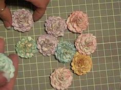 paper roses, tutoriel scrapbooking, scrapbooking tutoriels, paper punch, bridal shower, flower tutorial, make flowers, handmade flowers, handmade paper flowers