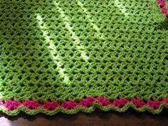 Free pattern for double v-stitch baby blanket