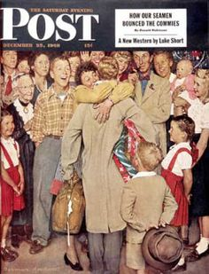 """1948-12-25: """"Christmas Homecoming"""" (Norman Rockwell) Saturday Evening Post"""