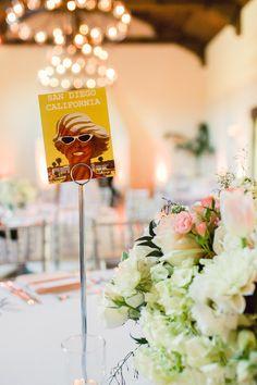 California Wedding | Spring Centerpiece | Table Names | Chelsea Elizabeth Photography