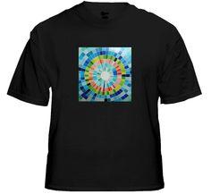 Mosaic Warp T-Qualizer Sound Reactive EQ T-Shirt. Price $24.99