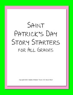 St. Patrick's Day Story Starters Writing Prompts