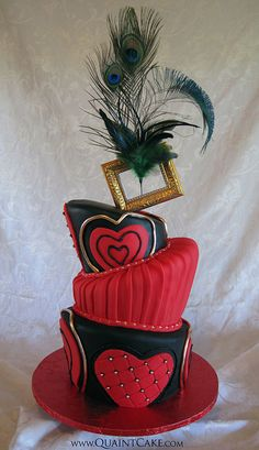 Moulin Rouge Sweet 16 Cake by quaintcake, via Flickr