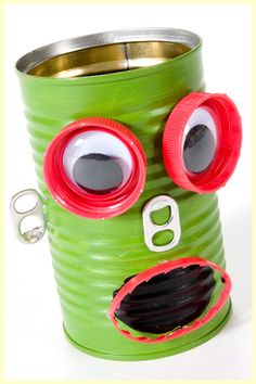 robot pen holder #recycled #kids crafts