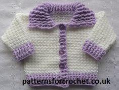 Ribbed Baby Cardigan free crochet pattern