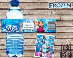 Disney Frozen BIRTHDAY party Printable   Bottle by TuKitDesign, $5.00
