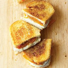 Grilled Fresh Mozzarella and Apricot on Sourdough:  Tara would love this