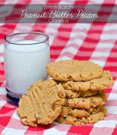 Melt-in-your-mouth small batch peanut butter pecan cookies. Sooooo good and perfect when you're craving a treat without ending up with 4 dozen cookies in your house.