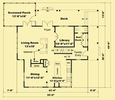 Architectural House Plans : Floor Plan Details : Field of Dreams