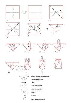 croquis origami de la boite pochette - Tête à modeler