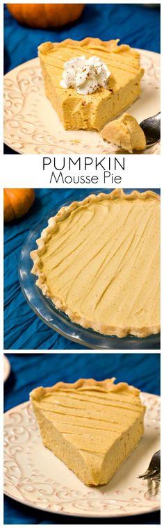 Pumpkin Mousse Pie - light and creamy no-bake pumpkin pie that's a ...