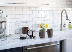 Granite countertops can be faked with granite contact paper