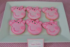 Cookies at a Peppa Pig Party #peppapig #partycookies