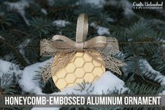 Honeycomb Christmas ornament