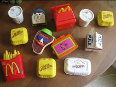 Mcdonalds transformer toys from the 80s
