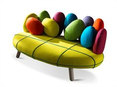 Upholstered 3 Seater Sofa JELLY by Adrenalina | Design Simone Micheli