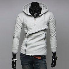 Men's Inner Zipper Look Hoodie