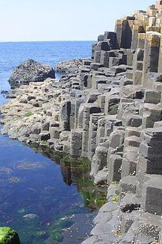 Giant's Causeway , Northern Ireland -------Northern Ireland's most popular tourist destination: this large stretch of staircase-shaped rocks is the result of cooled lava from volcanic eruptions that took place over 65 million years ago.