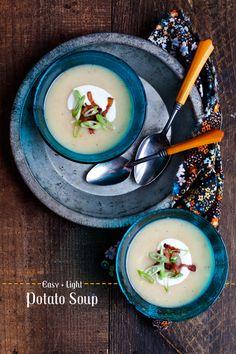 Easy + Light Potato Soup