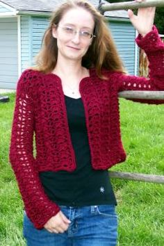 Autumn Spice Bolero free pattern - I'd make this into a full length cardigan with 3/4 sleeves.