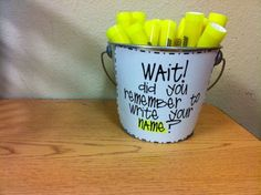 My students always forget their names!!!! This is a good idea.