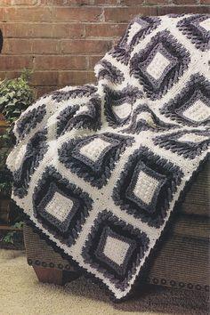Plum Pudding Afghan Crochet Pattern #crochet #afghan