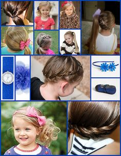 Side Ponytails for little girls hair...all ab ever wants is a side pony!!!
