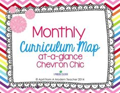 Monthly Curriculum Map {Editable, Free Printable} Chevron Chic