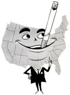 Smoking Map, 1955, via Flickr.